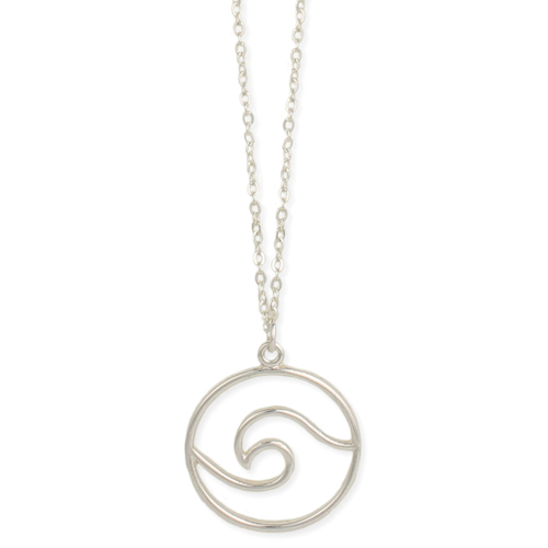 Open Silver Wave Necklace