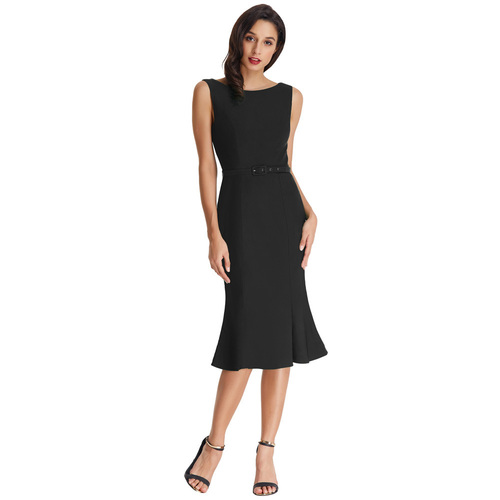 Alessandra Pencil Dress in Black