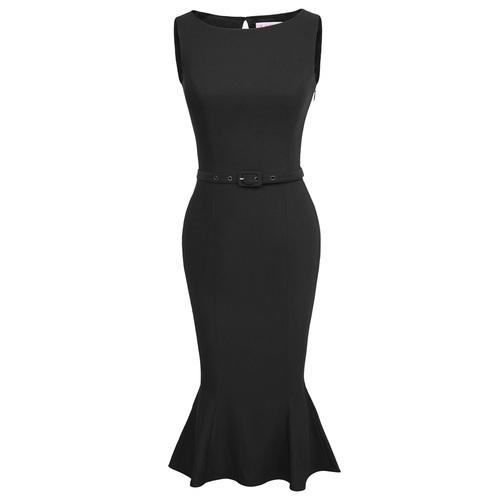 Alessandra Pencil Dress in Black