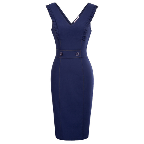 Harley Pencil Dress (Black or Navy)