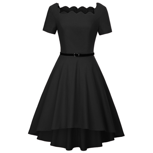 Adele High Low Dress (Red or Black)