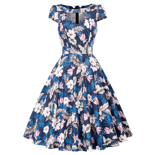 Grace Dress in Tropical Floral