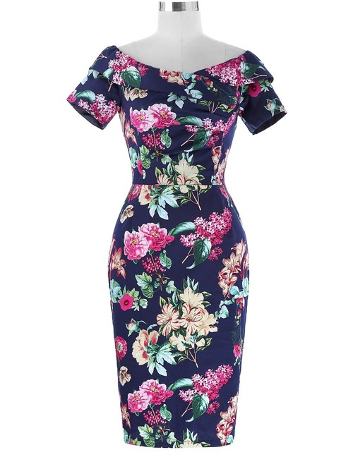 Selma Dress in Tropical Print