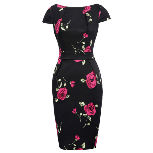 Arden Pencil Dress in Rose