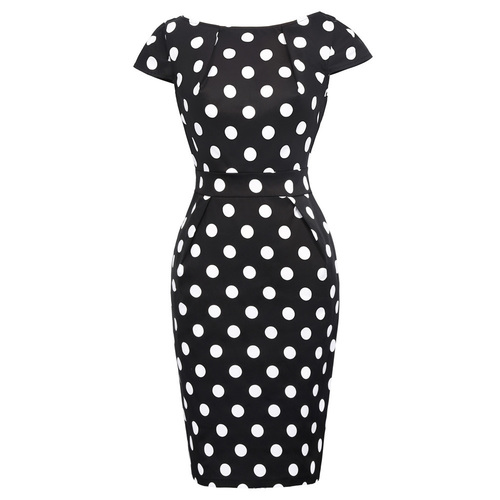 Arden Pencil Dress in Polka Dot