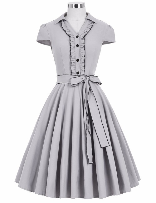 Twyla Dress in Grey