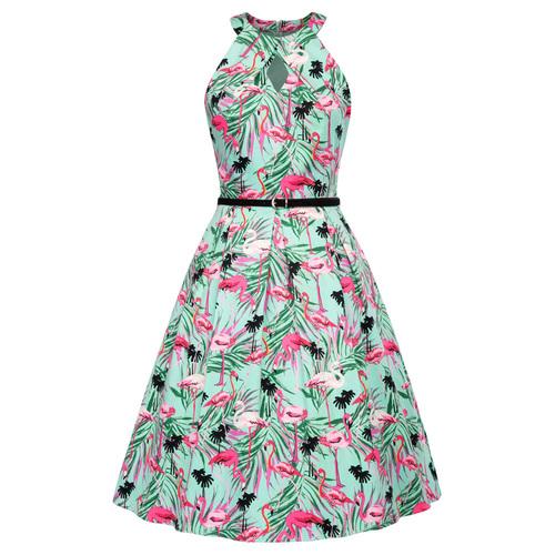 Elora Dress in Flamingo Print
