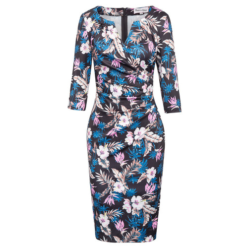 Giavanna Wrap dress in Tropical Floral