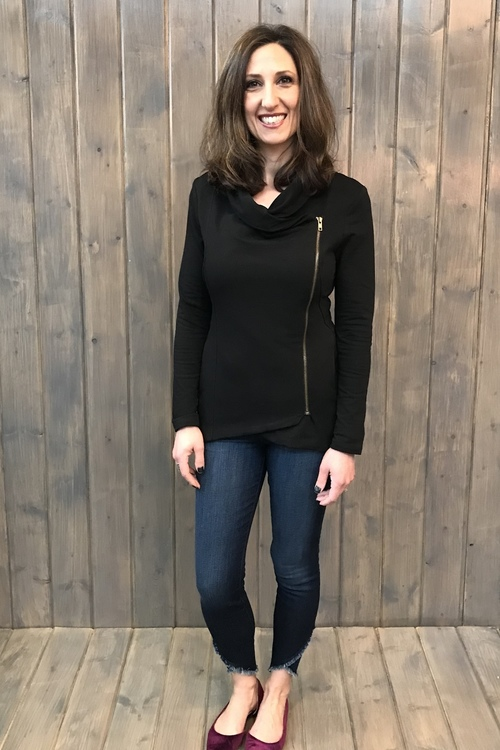 French Terry Side Zip Jacket