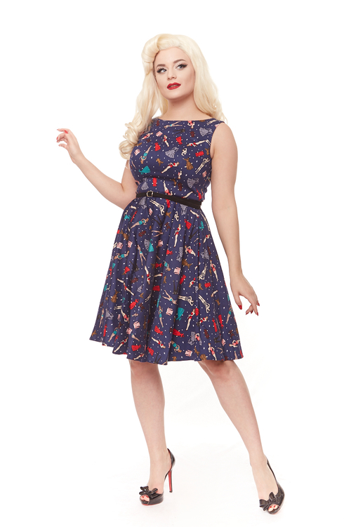 Felicity Dress in Paperdoll print