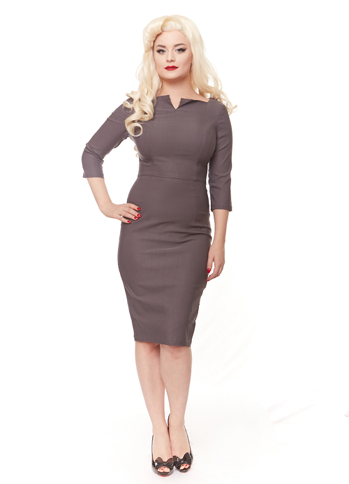 Bianca Pencil dress (Grey or Black)