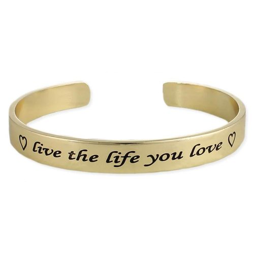 Live the Life You Love Bracelet Gold