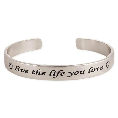 Live the Life You Love Bracelet Silver