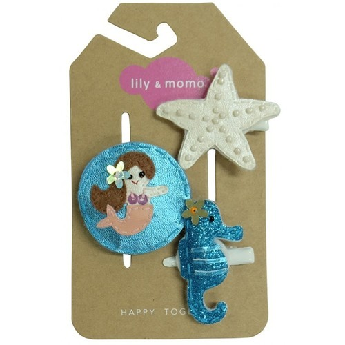 Mermaid Kisses & Starfish WIshes Hair Clip Set