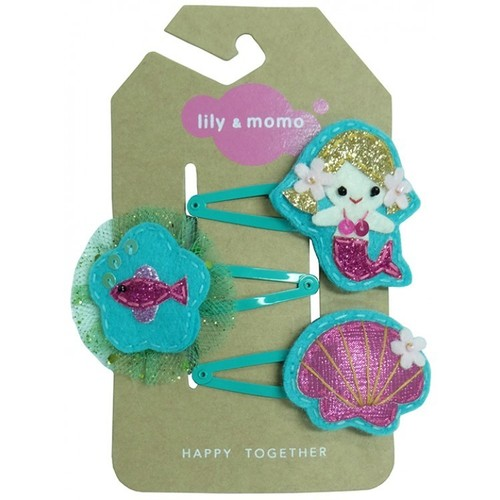 Merry Mermaid Trio Hair Clip Set
