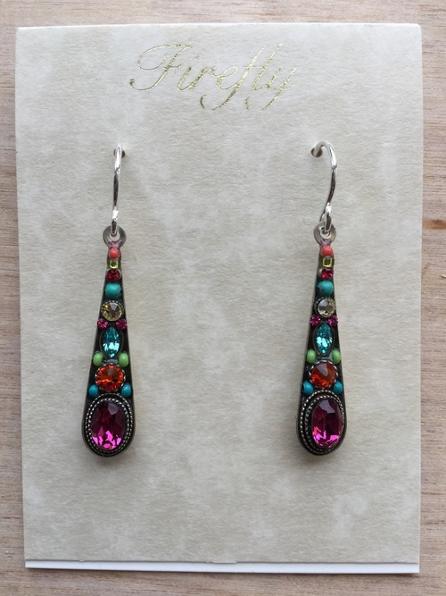 Stilleto Medium Drop Earrings Multicolor