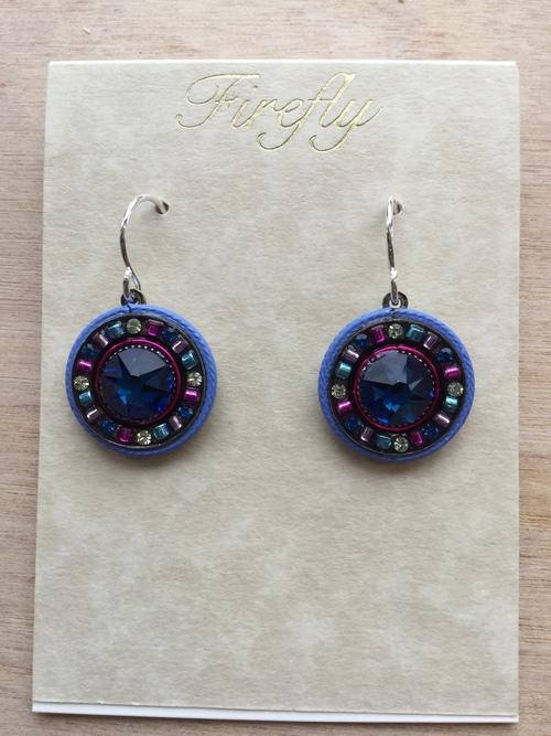 La Dolce Vita Round Earrings Bermuda Blue