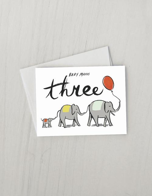 Baby Makes Three Card