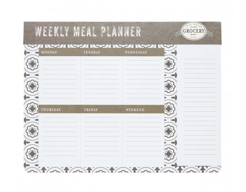 Weekly Meal Planner Magnetic Notepad