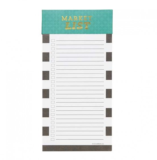 Market List Magnetic Notepad