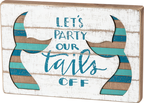 Let's Party Mermiad Tails Slat Sign