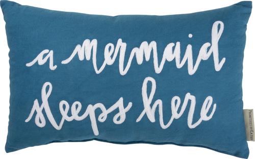 Mermaids Sleep Here Pillow