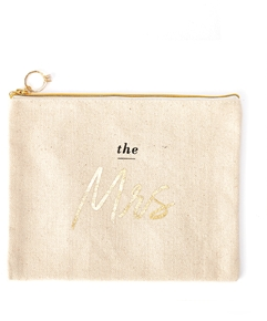 the Mrs. Canvas Pouch