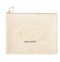 Wifey for Lifey Canvas Pouch