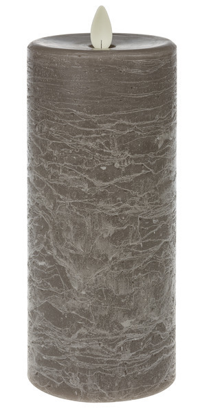 Waxed LED 3x5 Textured White Pillar Candle
