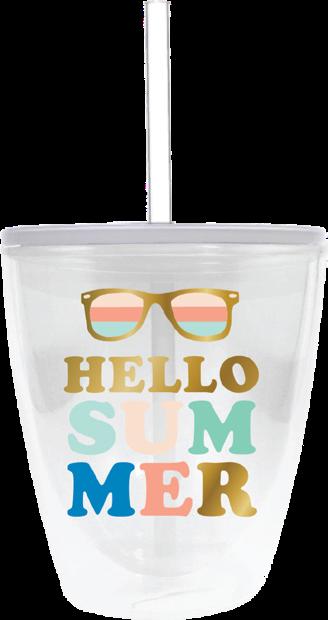 Hello Summer Glasses Tumbler