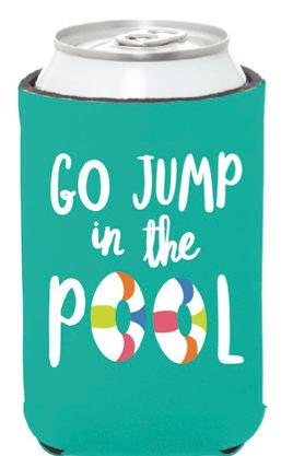 Go Jump in the Pool Koozie