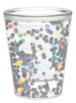 Mermaid Confetti Shot Glass