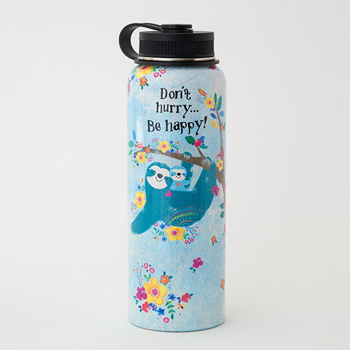 Sloth Don't Hurry Water Bottle