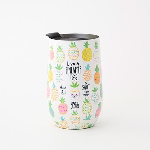 Live a Pineapple Life Wine Tumbler