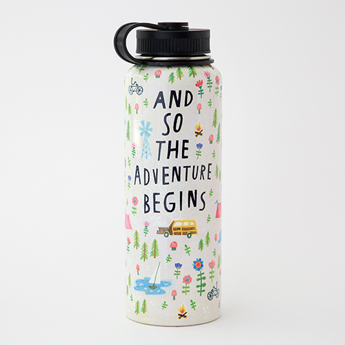 The Adventure Begins Large Water Bottle
