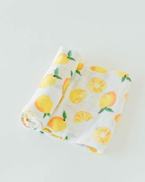 Lemon Muslin Swaddle Blanket