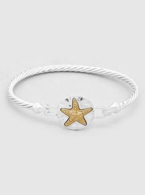 Rope Chain Gold Starfish Cuff