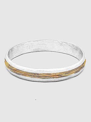 Multi Wire Strand Bangle Bracelet