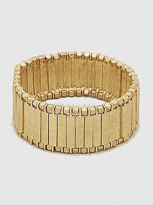 Hammered Bar Stretch Bracelet