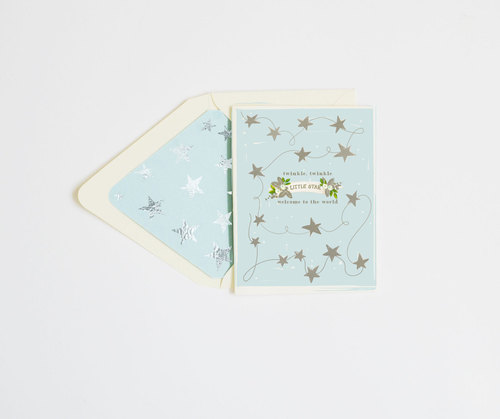 Twinkle Twinkle Little Star Blue Card
