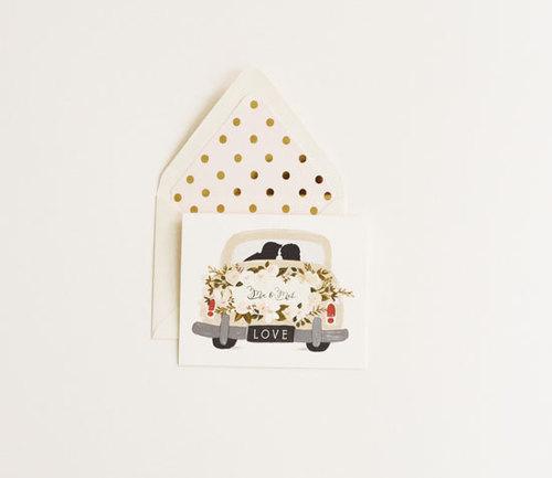 Mr & Mrs Vintage Card