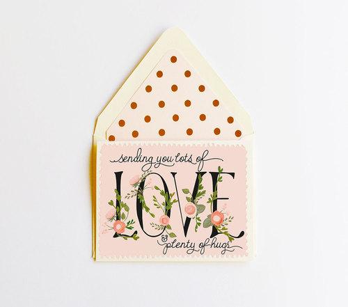Sending You Love & Hugs Card