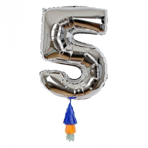 Fancy Number 5 Balloon
