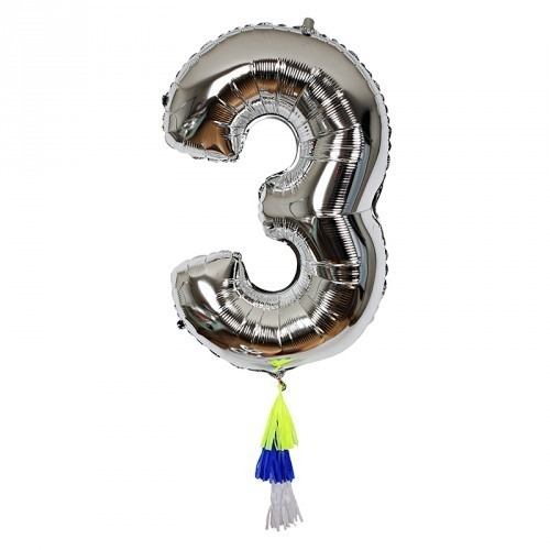 Fancy Number 3 Balloon