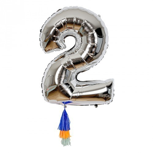 Fancy Number 2 Balloon