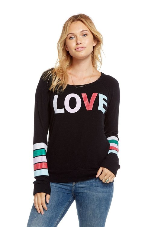 Rainbow Love Stripe Pullover