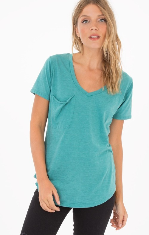 Pocket Tee Aqua Bay