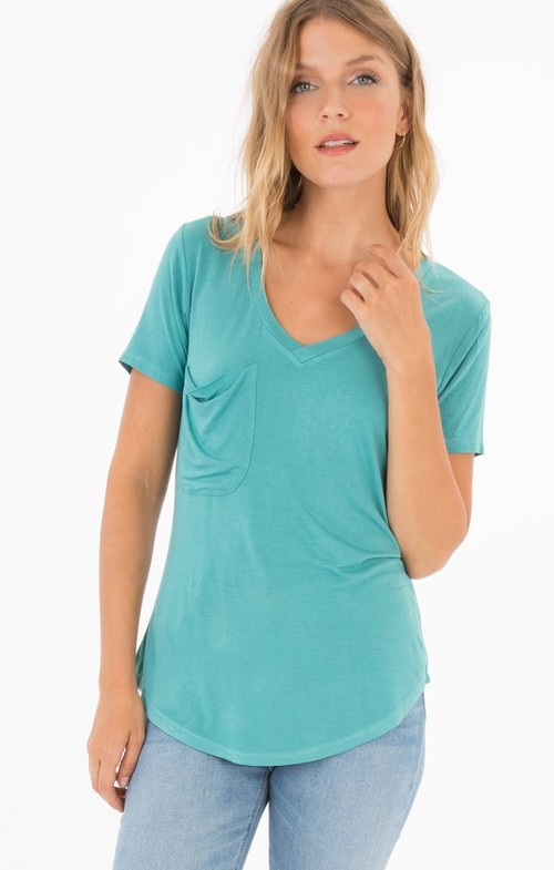 Aqua Bay Sleek Jersey Pocket Tee