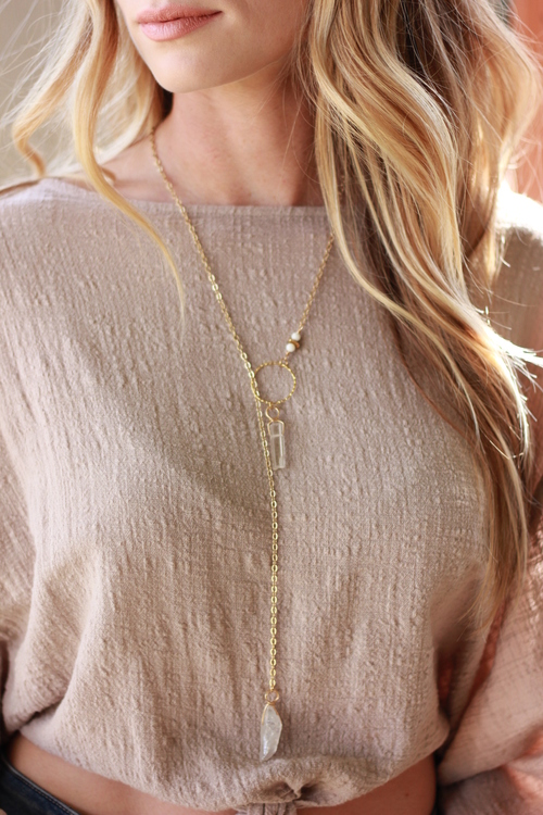 Clear Serendipity Lariat