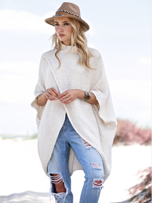 Criss Cross Turtleneck Sweater
